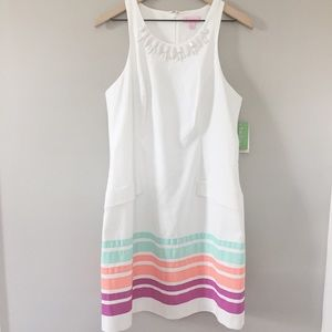LILLY PULITZER WHITE BEADED DRESS